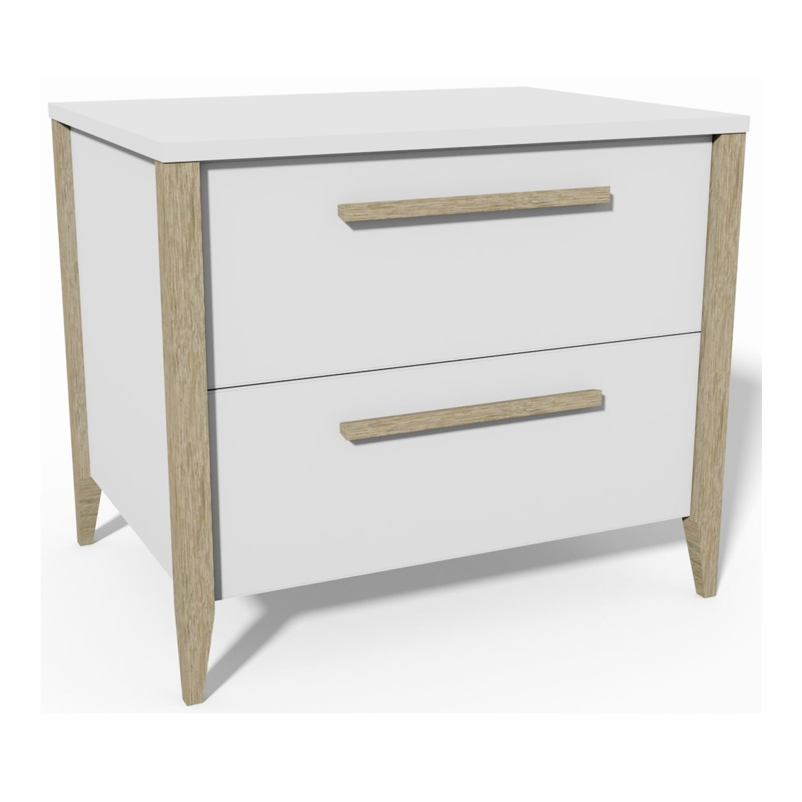 MODA NIGHSTAND -DRAWERS - MOD6052WH